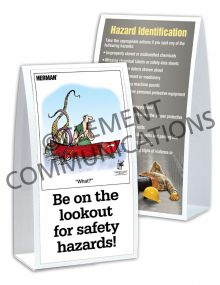 Hazard Identification - Lookout - Table-top Tent Cards