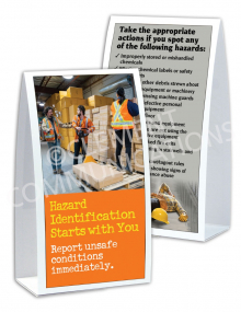 Hazard Identification - Starts With You - Table-top Tent Cards
