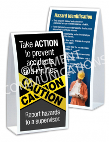 Hazard Identification - Caution - Table-top Tent Cards