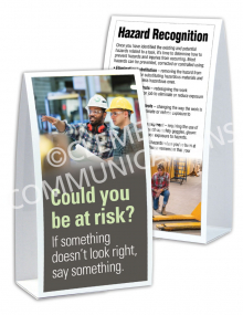 Hazard Identification - Risk - Table-top Tent Cards