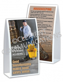 Housekeeping - Pitch In - Table-top Tent Cards