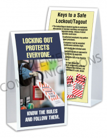Lockout/Tagout - Protect - Table-top Tent Cards