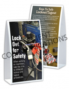 Lockout/Tagout - Safety - Table-top Tent Cards