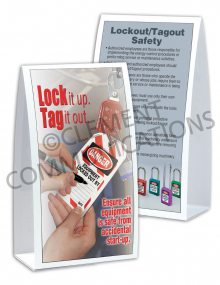 Lockout/Tagout – Lock it up - Table-top Tent Cards