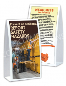 Near Miss - Prevent an Accident - Table-top Tent Cards