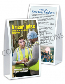 Near Miss - Today - Table-top Tent Cards