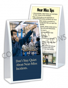 Near Miss - Silence - Table-top Tent Cards