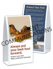 PPE - Footwear - Table-Top Tent Cards