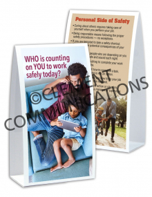 Safety Responsibility - Personal - Table-top Tent Card
