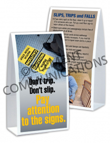 Slips, Trips, Falls - Don't Trip. Don't Slip Table-top Tent Cards