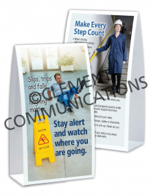Slip, Trip, Fall - Watch - Table-top Tent Cards
