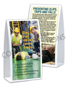 Slips, Trips, Falls - Deadly – Table-top Tent Cards