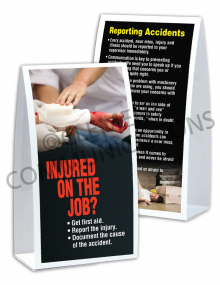 Accident Reporting - Injured - Table-top Tent Cards