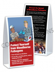Bloodborne Pathogens – Hand – Table-top Tent Cards