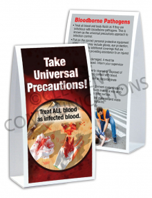 Bloodborne Pathogens – Bloody Tools – Table-top Tent Cards