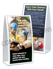 Hand Protection - Inspect Table-top Tent Cards