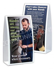 Hand Protection - Gloves Table-top Tent Cards