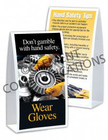 Hand Protection - Gears Table-top Tent Cards