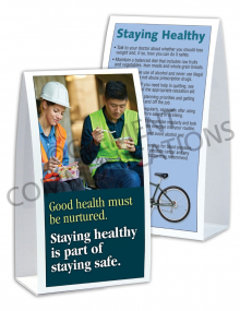 Health - Staying Safe - Table-top Tent Cards
