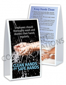 Handwashing - Clean Hands-Safe Hands - Table-top Tent Cards