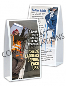 Ladder Safety - Check - Table-top Tent Cards
