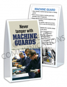 Machine Guards - Don't Tamper - Table-top Tent Cards