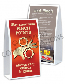 Machine Guards - Pinch Points - Table-top Tent Cards