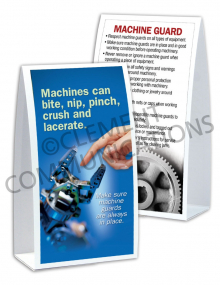 Machine Guards - Machines Bite - Table-top Tent Cards