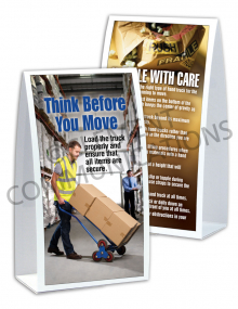 Material Handling – Think Before – Table-top Tent Cards