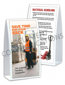 Material Handling – Electric Pallet Jack – Table-top Tent Cards