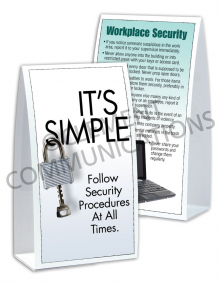 Security – It's Simple – Table-top Tent Cards