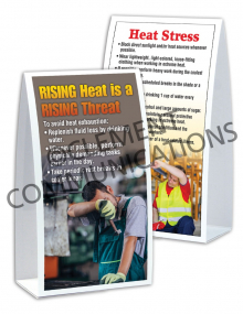 Heat Stress - Rising Threat – Table-top Tent Cards