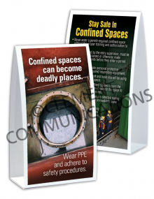 Confined Spaces – Deadly Places – Table-top Tent Cards