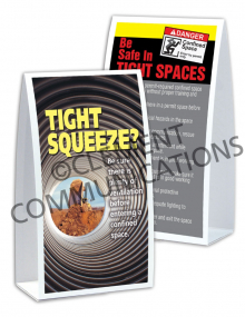 Confined Spaces – Tight Squeeze – Table-top Tent Cards