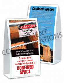 Confined Spaces – Oxygen – Table-top Tent Cards