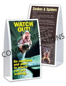 Outdoor Safety - Watch Out - Table-top Tent Cards