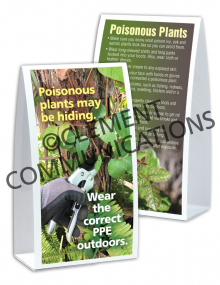 Outdoor Safety - Poisonous Plants - Table-top Tent Cards