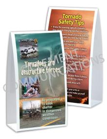 Tornado Safety - Destructive - Table-top Tent Cards