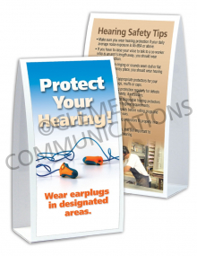 Hearing Protection - Earplugs - Table-top Tent Cards