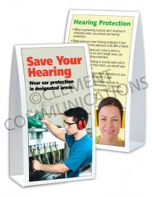 Hearing Protection - Muffs - Table-top Tent Cards