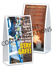 Seasonal Safety - Hustle - Table-top Tent Cards