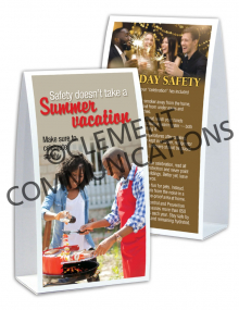 Seasonal Safety - Summer - Table-top Tent Cards