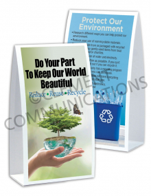 Environmental Safety – Do You Part – Table-top Tent Cards