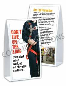 Fall Protection - Harness Table-top Tent Cards