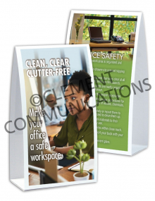 Office Safety - Clean - Table-top Tent Cards