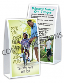 Off-the-Job Safety - Bike - Table-top Tent Cards