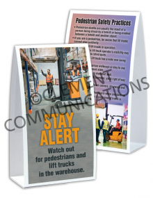 Warehouse Safety - Pedestrians - Table-top Tent Cards