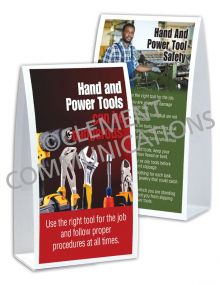 Tool Safety - Dangerous - Table-top Tent Cards