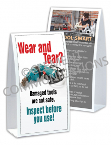 Tool Safety - Wear and Tear - Table-top Tent Cards