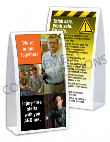 Injury Free Culture – We're In This Together - Table-top Tent Cards